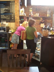 Ordering at Frisky Berry Coffee Co.
