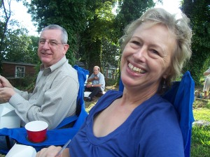 My friends Henry and Sarah Gaede enjoy music, food and good company at Sounds at Sundown.