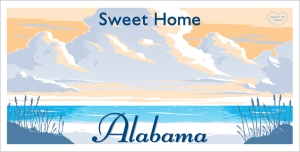 Alabama state license plate
