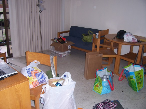 Moving out of dorm room