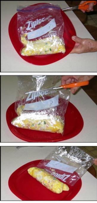Ziploc Omelette