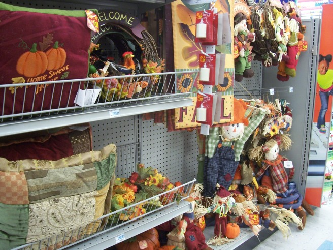 "The first sign of fall isn't football practice or back-to-school shopping  -- it's the ""seasonal"" aisle at CVS changing from sunscreen and beach toys to pumpkins and scarecrows ... in the first week of August."