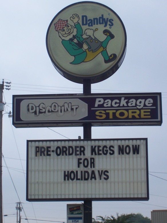 """... because nothing says """"Christmas"""" like planning your keg party."""