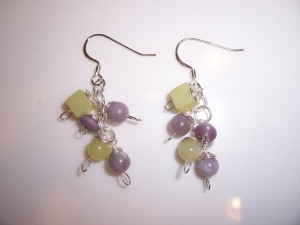 Pair No. 6 -- beautiful shadings of lavendar and green