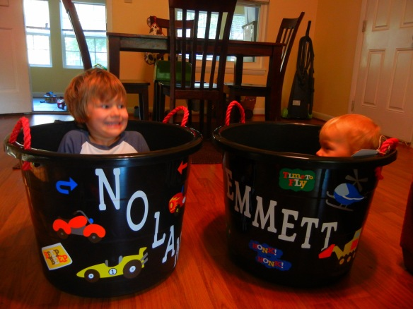 I've been giving the grandsons multi-purpose presents useful for all kinds of storage ... and